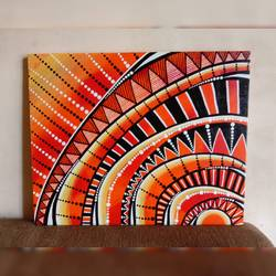 doodle art handmade painting, 15 x 15 inch, anjana powell,15x15inch,canvas,paintings,abstract paintings,paintings for living room,paintings for bedroom,acrylic color,GAL02138833328