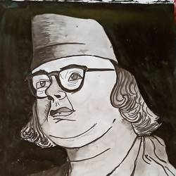 rebel poet kazi nazrul islam, 16 x 15 inch, subham roy,16x15inch,thick paper,paintings,portrait paintings,paintings for living room,watercolor,GAL01992533344
