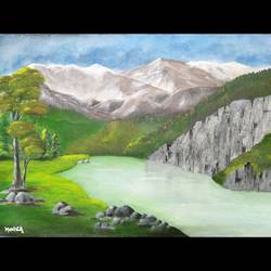 scenic view, 18 x 13 inch, monica bhagwat,18x13inch,canvas,landscape paintings,nature paintings | scenery paintings,acrylic color,GAL02155933354