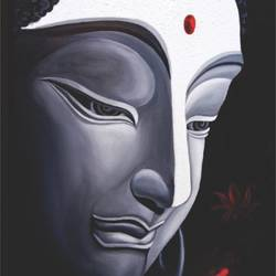 divinity, 30 x 36 inch, ravindra  chandanshive,30x36inch,canvas,paintings,buddha paintings,paintings for dining room,paintings for living room,paintings for office,paintings for hotel,paintings for hospital,acrylic color,GAL02151033363