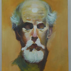 in silence  , 1 x 2 inch, manjit  vani,1x2inch,canvas,figurative paintings,oil color,GAL02127433375