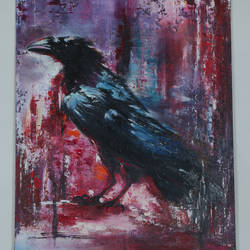 any sign of trouble , 1 x 2 inch, manjit  vani,1x2inch,canvas,animal paintings,oil color,GAL02127433376