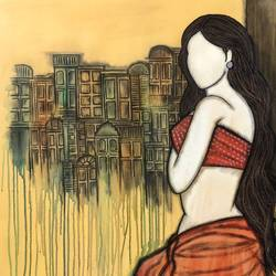 prarabdh, 30 x 34 inch, mrinal  dutt,30x34inch,canvas,paintings,figurative paintings,conceptual paintings,contemporary paintings,paintings for dining room,paintings for living room,paintings for bedroom,paintings for office,paintings for bathroom,paintings for hotel,paintings for kitchen,paintings for hospital,acrylic color,GAL01311733379