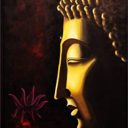radiancy, 24 x 36 inch, ravindra  chandanshive,24x36inch,canvas,paintings,buddha paintings,paintings for dining room,paintings for living room,paintings for bedroom,paintings for office,paintings for hotel,paintings for school,paintings for hospital,acrylic color,GAL02151033382
