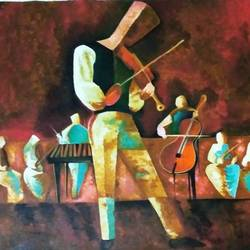 orchestra, 35 x 49 inch, shruti panwar,35x49inch,canvas,paintings,modern art paintings,acrylic color,GAL02143533388