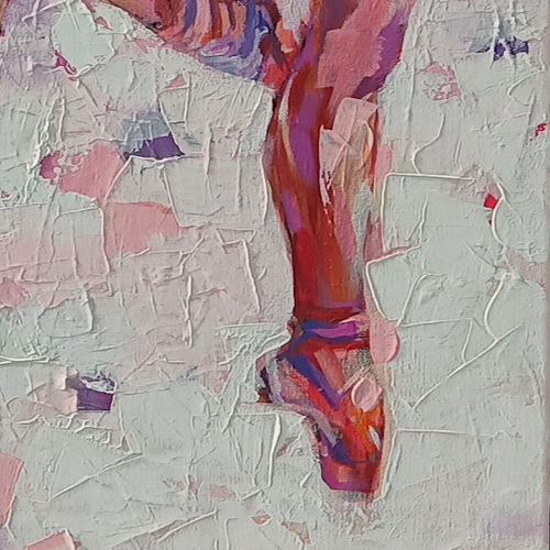 ballerina series, 24 x 42 inch, anindya mukherjee,24x42inch,canvas,paintings,figurative paintings,impressionist paintings,paintings for living room,acrylic color,GAL02161633393