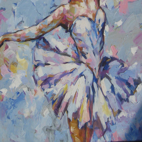 ballerina series, 36 x 30 inch, anindya mukherjee,36x30inch,canvas,paintings,figurative paintings,impressionist paintings,paintings for living room,paintings for living room,acrylic color,GAL02161633397