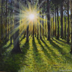 sunrise, 12 x 16 inch, chinmay bahulekar,12x16inch,canvas,paintings,landscape paintings,nature paintings | scenery paintings,realistic paintings,paintings for dining room,paintings for living room,paintings for bedroom,paintings for office,paintings for bathroom,paintings for kids room,paintings for hotel,paintings for kitchen,paintings for school,paintings for hospital,acrylic color,GAL0720433398