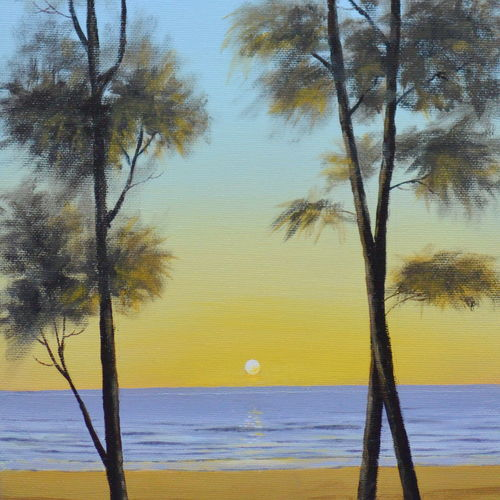 sunset, 10 x 20 inch, chinmay bahulekar,10x20inch,canvas,paintings,landscape paintings,nature paintings | scenery paintings,realistic paintings,paintings for dining room,paintings for living room,paintings for bedroom,paintings for office,paintings for bathroom,paintings for kids room,paintings for hotel,paintings for kitchen,paintings for school,paintings for hospital,acrylic color,GAL0720433403