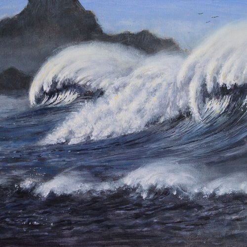 cyclon is coming, 8 x 10 inch, chinmay bahulekar,8x10inch,canvas,paintings,nature paintings | scenery paintings,realistic paintings,paintings for dining room,paintings for living room,paintings for bedroom,paintings for office,paintings for bathroom,paintings for kids room,paintings for hotel,paintings for kitchen,paintings for school,paintings for hospital,acrylic color,GAL0720433411