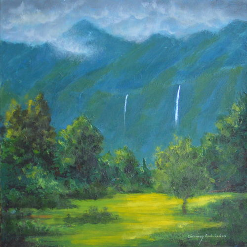 rainy season, 12 x 12 inch, chinmay bahulekar,12x12inch,canvas,paintings,landscape paintings,nature paintings | scenery paintings,realistic paintings,paintings for dining room,paintings for living room,paintings for bedroom,paintings for office,paintings for bathroom,paintings for kids room,paintings for hotel,paintings for kitchen,paintings for school,paintings for hospital,acrylic color,GAL0720433415