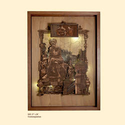 contemplation, 27 x 36 inch, shriram mandale,27x36inch,wood board,handicrafts,wall hangings,wood,GAL02165133420