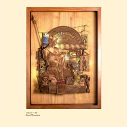 lost treasure, 27 x 38 inch, shriram mandale,27x38inch,wood board,handicrafts,wall hangings,wood,GAL02165133423