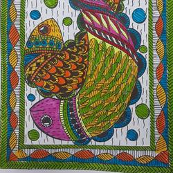 madhubani art, 9 x 12 inch, shruti tandon,9x12inch,drawing paper,folk art paintings,madhubani paintings | madhubani art,paintings for living room,paintings for office,paintings for living room,paintings for office,pen color,GAL02149733426