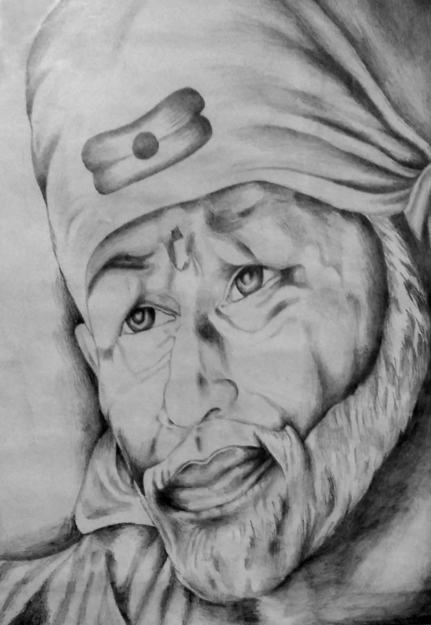 sai, 14 x 19 inch, ravi borade,figurative drawings,paintings for living room,thick paper,charcoal,14x19inch,GAL012433343