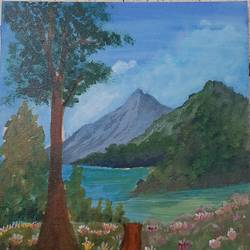 acrylic painting, 10 x 12 inch, vaishnavi ninawe,10x12inch,canvas,paintings,landscape paintings,nature paintings | scenery paintings,paintings for living room,acrylic color,GAL02076833442