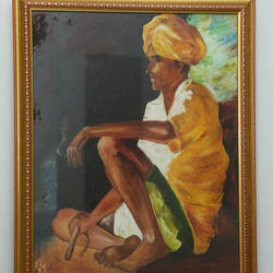 those lazy days of summer , 1 x 3 inch, manjit  vani,1x3inch,canvas,paintings,portrait paintings,acrylic color,oil color,GAL02127433456