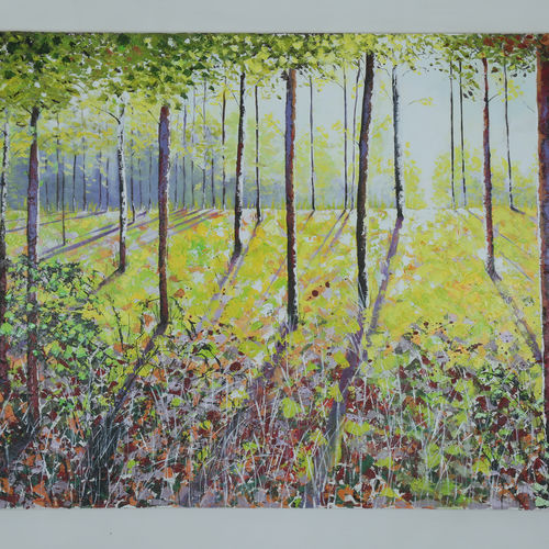voices in the forest, 5 x 3 inch, manjit  vani,5x3inch,canvas,paintings,landscape paintings,oil color,GAL02127433464
