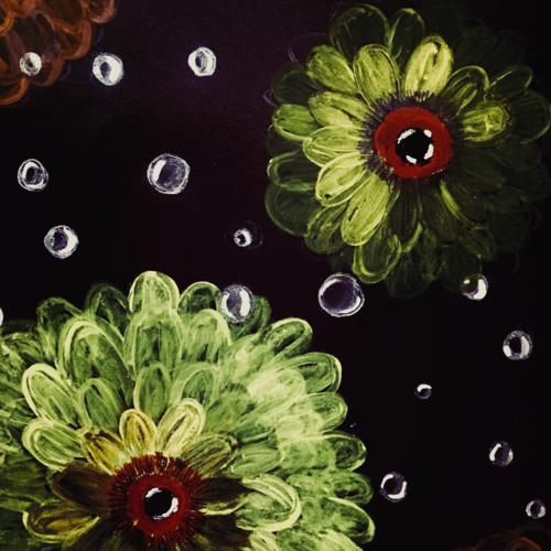 sunflower with bubbles painting , 25 x 40 inch, sarmistha nanda,25x40inch,drawing paper,paintings,modern art paintings,paintings for dining room,paintings for living room,paintings for bedroom,paintings for office,paintings for kids room,paintings for hotel,paintings for kitchen,paintings for school,paintings for hospital,natural color,pastel color,poster color,paper,GAL02064633472