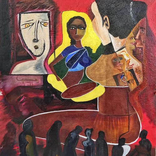 entertainment 001, 16 x 22 inch, inderjeet singh,16x22inch,canvas,paintings,abstract paintings,paintings for dining room,paintings for living room,paintings for bedroom,paintings for office,paintings for kids room,paintings for hotel,paintings for kitchen,oil color,GAL0571533478