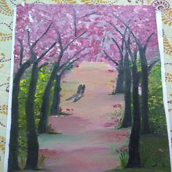 hum tum , 8 x 12 inch, akanksha  mathur,8x12inch,canvas,nature paintings | scenery paintings,oil color,GAL02170533495