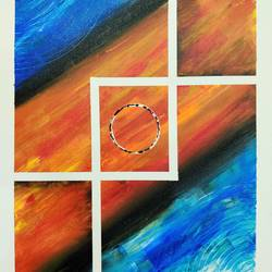 eclipse, 26 x 16 inch, sahil jain,26x16inch,canvas,paintings,abstract paintings,paintings for dining room,paintings for living room,paintings for bedroom,paintings for office,paintings for hotel,paintings for school,paintings for hospital,acrylic color,GAL02013833499