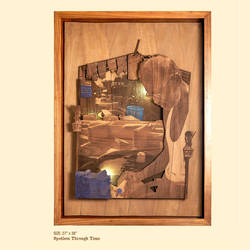 spotless through time, 27 x 38 inch, shriram mandale,27x38inch,wood board,handicrafts,wall hangings,wood,GAL02165133512