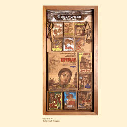 bollywood dreams, 18 x 40 inch, shriram mandale,18x40inch,wood board,handicrafts,wall hangings,wood,GAL02165133521