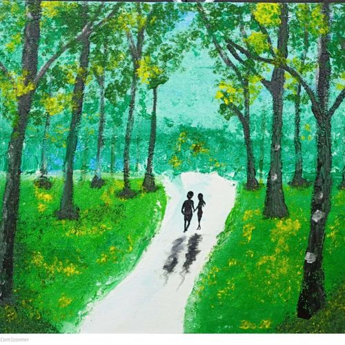 forest scene, 12 x 17 inch, aditya bansal,12x17inch,thick paper,paintings,wildlife paintings,landscape paintings,paintings for dining room,paintings for living room,paintings for bedroom,paintings for office,acrylic color,GAL02173233542