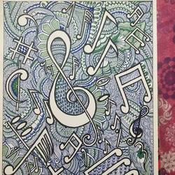 two most beautiful languages of the nature , 12 x 17 inch, vasudha  singh,12x17inch,ivory sheet,paintings,abstract paintings,modern art paintings,paintings for dining room,paintings for living room,paintings for office,pen color,ball point pen,paper,GAL02173433552