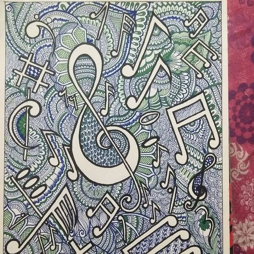 two most beautiful languages of the nature , 12 x 17 inch, vasudha  singh,12x17inch,ivory sheet,paintings,abstract paintings,modern art paintings,paintings for dining room,paintings for living room,paintings for office,pen color,ball point pen,paper,GAL02173433553