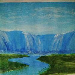 the great water fall, 24 x 16 inch, janak  tank,24x16inch,ivory sheet,drawings,figurative paintings,conceptual paintings,nature paintings | scenery paintings,illustration paintings,realism paintings,water fountain paintings,paintings for dining room,paintings for living room,paintings for office,paintings for kids room,paintings for hotel,paintings for school,conceptual drawings,fine art drawings,realism drawings,paintings for bathroom,paintings for living room,paintings for hotel,paintings for school,acrylic color,enamel color,oil color,pastel color,pencil color,poster color,watercolor,ball point pen,GAL02138233570