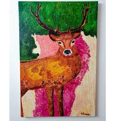 deer, 24 x 36 inch, ashish goswami ,24x36inch,canvas board,wildlife paintings,portrait paintings,animal paintings,paintings for living room,paintings for bedroom,paintings for hotel,paintings for school,paintings for living room,paintings for bedroom,paintings for hotel,paintings for school,oil color,GAL01916033575