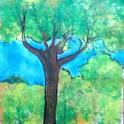 tree, 7 x 19 inch, manoj kumar mishra,7x19inch,cloth,paintings,portrait paintings,nature paintings | scenery paintings,paintings for dining room,paintings for office,paintings for school,paintings for dining room,paintings for office,paintings for school,acrylic color,fabric,GAL02111933595
