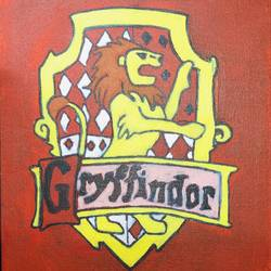 gryffindor house, 8 x 10 inch, mindscream artsy,8x10inch,canvas,paintings,paintings for kids room,acrylic color,GAL02179133604
