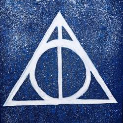 deathly hallows, 8 x 10 inch, mindscream artsy,8x10inch,canvas,paintings for kids room,paintings for kids room,acrylic color,GAL02179133606