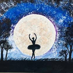 dancing girl, 18 x 24 inch, mindscream artsy,18x24inch,canvas,paintings,paintings for bedroom,paintings for bedroom,acrylic color,GAL02179133607