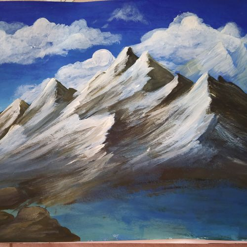 mighty, 10 x 8 inch, savi mandhotra,10x8inch,thick paper,nature paintings | scenery paintings,paintings for living room,paintings for living room,acrylic color,GAL02178833616