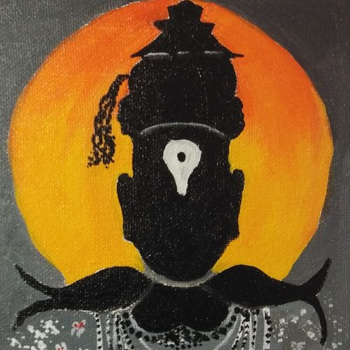 vitthal , 8 x 10 inch, akshata  chavan ,8x10inch,canvas,paintings,religious paintings,paintings for dining room,paintings for living room,paintings for office,paintings for hotel,paintings for school,acrylic color,GAL02186133657