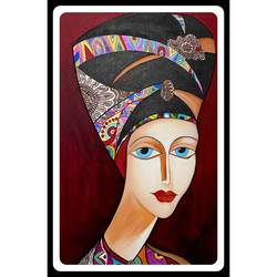 egyptian lady  portrait, 18 x 27 inch, rennie eva  lall,18x27inch,canvas,paintings,portraiture,paintings for dining room,paintings for living room,paintings for bedroom,paintings for office,paintings for hotel,acrylic color,GAL02165933665
