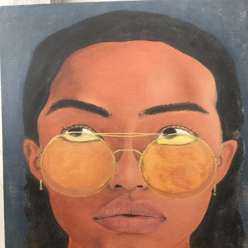 portrait , 12 x 16 inch, nupur kumar,12x16inch,hardboard,paintings,figurative paintings,portrait paintings,pop art paintings,street art,paintings for dining room,paintings for living room,paintings for bedroom,paintings for office,acrylic color,oil color,GAL02189933677