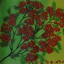 beautiful gulmohar flowers , 11 x 10 inch, sujitha  sreeramula chengalrayan,11x10inch,canvas,paintings,flower paintings,paintings for dining room,paintings for living room,paintings for bedroom,paintings for office,paintings for kids room,paintings for hotel,paintings for dining room,paintings for living room,paintings for bedroom,paintings for office,paintings for kids room,paintings for hotel,acrylic color,GAL02189833690