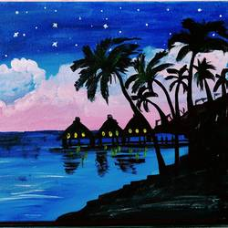 seascape painting , 12 x 16 inch, himani gupta,12x16inch,canvas,abstract paintings,landscape paintings,nature paintings   scenery paintings,paintings for dining room,paintings for living room,paintings for hotel,paintings for dining room,paintings for living room,paintings for hotel,acrylic color,ceramic,GAL02191633693