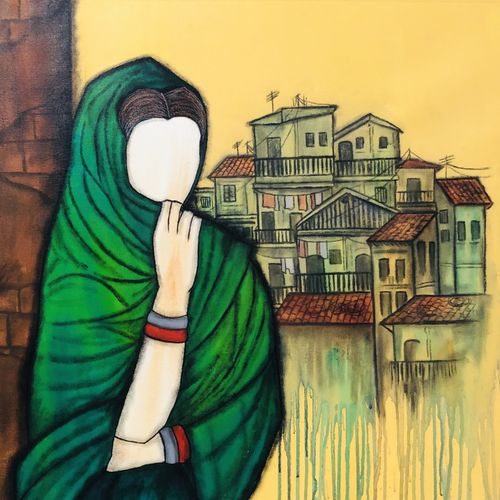 harita , 30 x 33 inch, mrinal  dutt,30x33inch,canvas,paintings,figurative paintings,conceptual paintings,contemporary paintings,paintings for dining room,paintings for living room,paintings for bedroom,paintings for office,paintings for kids room,paintings for hotel,paintings for kitchen,paintings for school,paintings for hospital,acrylic color,GAL01311733705