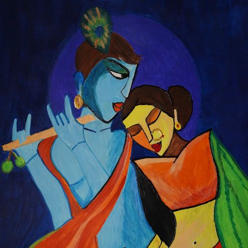 radha krishna, 8 x 12 inch, shweta singh,religious paintings,paintings for living room,radha krishna paintings,love paintings,canvas,acrylic color,8x12inch,GAL012423371,radha,krishna,love,flute,muisc,lordkrishna,lordradha,coupleheart,family,caring,happiness,forever,happy,trust,passion,romance,sweet,kiss,love,hugs,warm,fun,kisses,joy,friendship,marriage,chocolate,husband,wife,forever,caring,couple,sweetheart