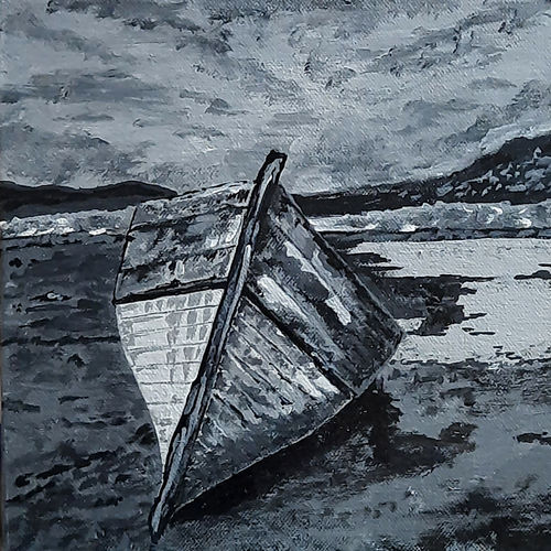 the boat 01, 8 x 8 inch, tejal bhagat,8x8inch,canvas board,paintings,nature paintings | scenery paintings,expressionism paintings,illustration paintings,impressionist paintings,photorealism paintings,photorealism,realism paintings,surrealism paintings,contemporary paintings,realistic paintings,paintings for dining room,paintings for living room,paintings for bedroom,paintings for office,paintings for bathroom,paintings for hotel,paintings for kitchen,paintings for school,paintings for hospital,acrylic color,GAL02041533748