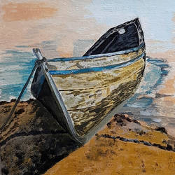 the boat 02, 8 x 8 inch, tejal bhagat,8x8inch,canvas board,paintings,landscape paintings,nature paintings | scenery paintings,abstract expressionism paintings,expressionism paintings,illustration paintings,impressionist paintings,photorealism paintings,photorealism,realism paintings,surrealism paintings,contemporary paintings,realistic paintings,paintings for dining room,paintings for living room,paintings for bedroom,paintings for office,paintings for bathroom,paintings for kids room,paintings for hotel,paintings for kitchen,paintings for school,paintings for hospital,acrylic color,GAL02041533749