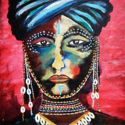 the empress-born to rule, 16 x 20 inch, puspita datta,16x20inch,canvas,abstract paintings,figurative paintings,modern art paintings,portrait paintings,paintings for dining room,paintings for living room,paintings for office,paintings for hotel,paintings for dining room,paintings for living room,paintings for office,paintings for hotel,acrylic color,GAL01538633751