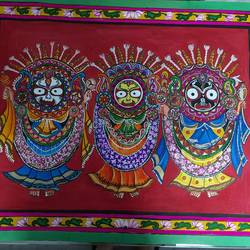 lord jaganath, 22 x 18 inch, ratna  bose ,22x18inch,ivory sheet,paintings,paintings for living room,poster color,paper,GAL02197833759