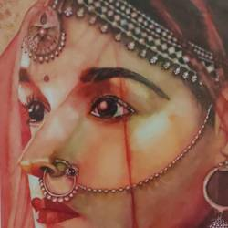 beauty, 15 x 22 inch, surabhi  singh ,15x22inch,handmade paper,paintings,portrait paintings,art deco paintings,realism paintings,watercolor,GAL01950533765
